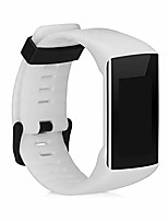 cheap -silicone watch strap compatible with polar a360 / a370 - fitness tracker band with clasp - white matte
