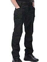 cheap -men's hiking tactical pants, durable lightweight outdoor work military cargo hiking pants with zipper pockets z025 black