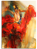 cheap -Beautiful Wall Pictures Cool Girl Figure Portrait Oil Paintings Handpainted Abstract Ballet Portrait Oil Paintings Canvas Free Shipping Rolled Canvas No Frame Unstretched