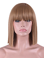cheap -Synthetic Wig Hathaway Middle Part Wig Light Brown Natural Blond Straight Hair Holiday Wig Cosplay Wig Medium Long Hair Synthetic Hair 12 inch Women Synthetic Sexy Lady Hairstyle