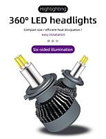 cheap -2Pcs H1 H3 Car Accessories Headlamp Car Headlight Bulbs H7 H11 Headlight 3D LED Canbus 360 Degree 12000LM Auto Light 9005 9006 9012