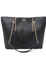 cheap -Women's Bags PU Leather Leather Crossbody Bag Buttons Chain Baguette Bag Daily Outdoor Black