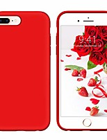 cheap -iphone 8 plus case iphone 7 plus case liquid silicone soft gel rubber slim lightweight microfiber lining cushion texture cover shockproof protective case for iphone 8 plus/7 plus red