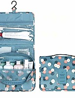 cheap -travel toiletry bag hanging cosmetic makeup bag waterproof bathroom and shower organizer portable washbag doop kit for men and women (blue flower)