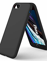 cheap -liquid silicone case compatible with iphone se(2020), iphone 7/8 slim liquid silicone full covered soft gel rubber case cover for iphone7/8/ se(2020) 4.7 inch-black