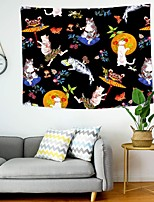 cheap -Wall Tapestry Art Decor Blanket Curtain Picnic Tablecloth Hanging Home Bedroom Living Room Dorm Decoration Polyester Cat Pattern