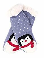 cheap -girls plush sherpa winter fleece slipper socks (perwinkle, 4-7 years old)