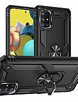 cheap -pegoo galaxy a51 5g case,silicone impact resistant hybrid heavy armor with bracket bumper cover case for samsung galaxy a51 5g (black)