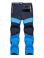 cheap -mens hiking pants outdoor quick dry lightweight waterproof hiking mountain fishing travel pants with belt,blue,l