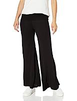 cheap -women's petite stretch ity knit wide-leg palazzo pant, black, pm