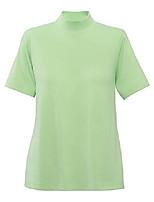 cheap -women cotton-polyester mock top, pistachio, 3x