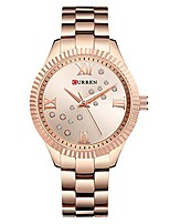cheap -curren womens watches top brand luxury gold black quartz watch waterproof full steel ladies dress watches (rose gold)