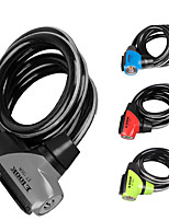 cheap -Bike Cable Lock Cycling Wearable Anti Theft For Road Bike Mountain Bike MTB Folding Bike Recreational Cycling Fixed Gear Bike Cycling Bicycle Steel Alloy Dark Grey Red Blue