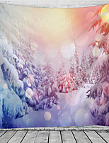 cheap -Christmas Santa Claus Holiday Party Wall Tapestry Art Decor Blanket Curtain Picnic Tablecloth Hanging Home Bedroom Living Room Dorm Decoration Christmas Tree Snowfield