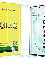 cheap -[3 pack] qhohq screen protector for samsung galaxy note 10 plus/note 10+ 5g, soft tpu 3d full coverage hd clear flexible film [not tempered glass]