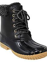 cheap -shoes nature breeze stylish comfortable lace up side zipper waterproof boot, duck-02 black pvc 6.5
