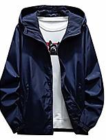 cheap -men's casual solid plus size waterproof hoodie zipper rain coat jacket windbreaker(dark blue,xxxxxl)