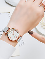 cheap -Women's Quartz Watches Quartz Vintage Style Casual Casual Watch Analog Silver+Gray Golden+Black Blushing Pink / PU Leather