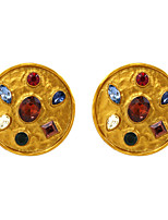cheap -Women's Stud Earrings Drop Earrings Earrings Fancy Punk Baroque Gothic Fashion Gypsy Imitation Diamond Earrings Jewelry Black / Red / Yellow For 1 Pair