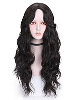 cheap -Synthetic Wig Curly Middle Part Wig Long Light Brown Brown Black Purple Synthetic Hair 24 inch Women's Cool Fluffy Brown Purple