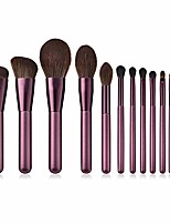 cheap -makeup brush set unique makeup brushes set 12pcs makeup brush foundation brush powder pink blush brush eye shadow brush high gloss silhouette brush set brush-purple (color : lilac)