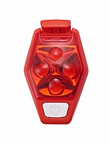 cheap -led warning light waterproof safety light flashing light with batteries bicycle backpack clip outdoor hiking jogging running cycling sports, red