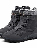 cheap -snow hiking booties for ladies classic fur lining warm fashion round toe winter outdoor camping work boots