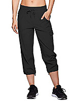 cheap -women's athletic hiking cargo capri shorts,outdoor quick dry straight leg with pockets for camping travel#2033 black-36