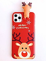 cheap -christmas case for iphone 11 pro max, merry christmas soft silicone tpu 3d cute snowman santa/elk pattern pretty cute premium flexible protective case for apple iphone 11 pro max 6.5' (green)