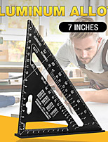 cheap -Triangle Ruler 7inch Aluminum Alloy Angle Protractor Speed Metric Square Measuring Ruler For Building Framing Tools Gauges