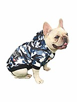 cheap -small pet dog hoodies clothes with striped camouflage hooded dog shirt casual teddy soft fleece sweatshirt cold weather fall spring clothing (xl, camouflage-blue)