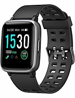 cheap -smart watch for android and ios phone ip68 waterproof, fitness tracker watch with heart rate monitor step sleep tracker, smartwatch compatible with iphone samsung, watch for men women (black)