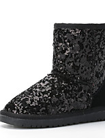 cheap -Boys' Girls' Boots Snow Boots Suede Snow Boots Little Kids(4-7ys) Walking Shoes Black Fuchsia Pink Winter / Mid-Calf Boots