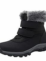 cheap -women plush flat leisure short ankle bootie velcro waterproof cotton shoes warm snow boots black 41