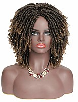 cheap -short synthetic braided wigs for black women dreadlock twist wigs faux locs braids hair wigs with curly ends afro curly synthetic wig for black women (t1b/27)