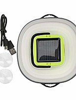 cheap -portable led tent lantern with usb socket and solar charging for backpacking camping hiking outdoor and indoor light(black)