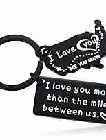 cheap -boyfriend us state love long distance gift best friend college graduation keychain for birthday black