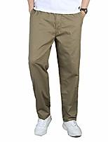 cheap -men's cargo pants loose straight leg casual chino cotton elastic waist army yellow asian 6xl