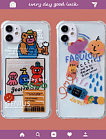 cheap -Case For Apple iPhone 12 / iPhone 11 / iPhone 12 Pro Max Shockproof Back Cover Transparent / Cartoon TPU