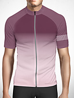 cheap -CAWANFLY Men's Short Sleeve Cycling Jersey Polyester Grey Gradient Bike Jersey Top Mountain Bike MTB Road Bike Cycling Quick Dry Reflective Strips Sweat-wicking Sports Clothing Apparel / Stretchy
