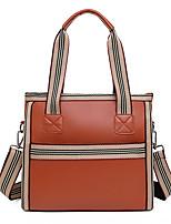cheap -Women's Bags PU Leather Top Handle Bag Handbags Daily Outdoor Black Dark Green Brown
