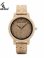 cheap -m12 men women quartz watch bamboo band cork leather strap 3atm fashion wristwatch couples watches for wonderful gorgeous his her watch