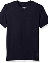 cheap -men's light flame knit v-neck t-shirt, navy, medium