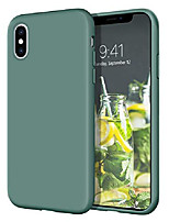 "cheap -iphone xs case, iphone x case  slim lightweight smooth liquid silicone soft gel rubber microfiber lining cushion texture cover shockproof protective phone cases for iphone xs/x 5.8"", pine green"