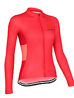 cheap -Women's Long Sleeve Cycling Jersey Winter Polyester Red Royal Blue Patchwork Bike Jersey Top Mountain Bike MTB Road Bike Cycling Quick Dry Back Pocket Sports Clothing Apparel / Stretchy / Athleisure