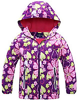 cheap -girl's cute zipper up coat windproof hooded jacket two hand pockets outwear 8-9t purple