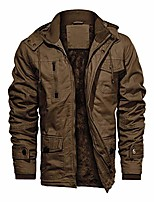 cheap -cotton jacket men with hood winter thicken jacket work jacket stand collar field windbreaker combat jacket camping jacket men khaki 5xl