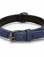 cheap -matte leather puppy dog collar best for small medium large and extra large dogs(s, blue)