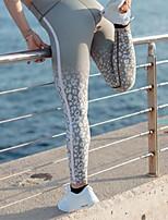 cheap -Women's Sporty Comfort Gym Yoga Leggings Pants Striped Patterned Ankle-Length Print Light gray Dark Gray