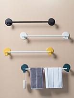 cheap -Towel Rack Free Punching Bathroom Kitchen Toilet Rags Single Rod Rack Bathroom Towel Rack Rod